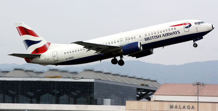 British Airways Reduces Connections from Malaga to Gatwick