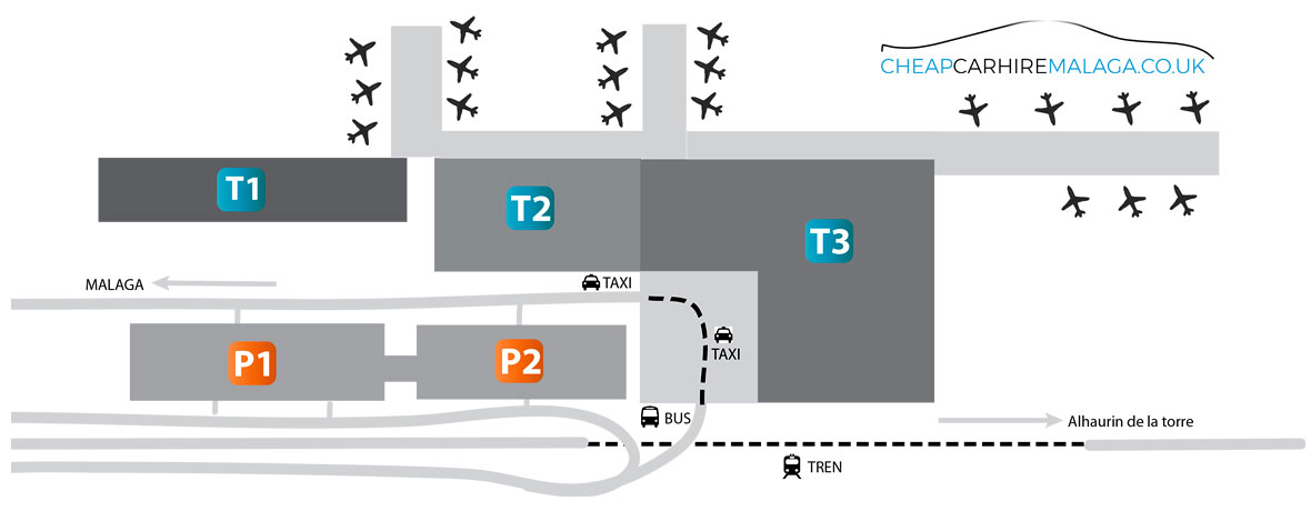 Map of Malaga Airport